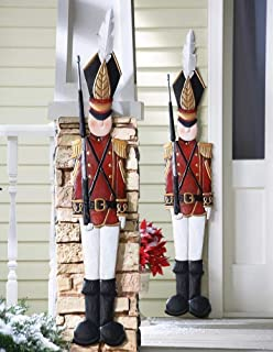 CT DISCOUNT STORE Deep Red Jacket Metal Toy Soldiers Nutcracker Christmas Spirit Holiday Wall Hanging Decoration (Single Metal Toy Soldier)