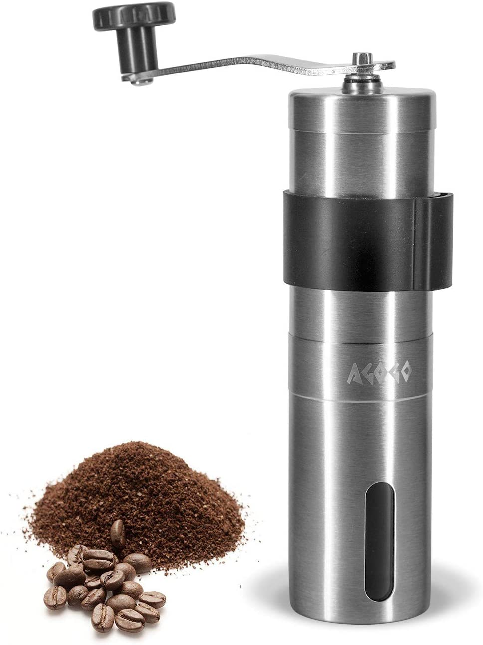 AGOGO Manual Super intense SALE Coffee Grinder Finally popular brand with Adjustable Stainles Setting 304