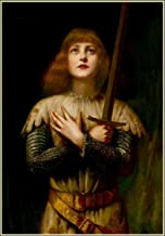 Quality Prints - Laminated 16x24 Vibrant Durable Photo Poster - St Joan of Arc - Women in Membership The Knights Templar Order of The Temple of Solomon
