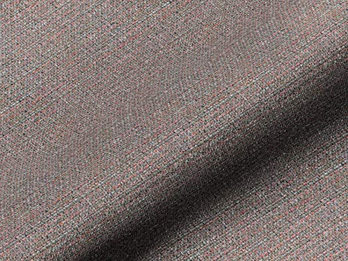 Saum & Viebahn GmbH & Co. KG Möbelstoff NORDLI Uni rot, hochwertiger Polsterstoff als Meterware, Fleckschutz