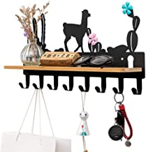 YWH-WH Wall Decoration Clothes Rack Coat Hook Rack Wall Mounted Hanger Clothes Hook With 8 Hooks, Decorative Wall Hooks Fo...
