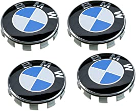 OSIRCAT Set of 4 - BMW Wheel Center Caps Emblem,68mm BMW Rim Center Hub Caps for All Models with BMW Wheels Logo Blue & White Color