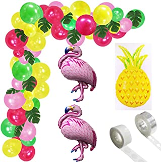 Tropical Hawaii Party Decorations Balloons Set - 99PCS Tropical Summer Party Supplies Luau Hawai Theme Party with Flamingo...