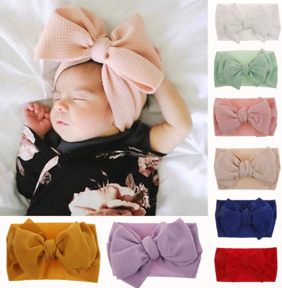 Oversized Baby Headwrap Wide Nylon Headband Big Bow Bright Floral Nylon Headband Huge Baby Headband White Baby Headband Flower Headband