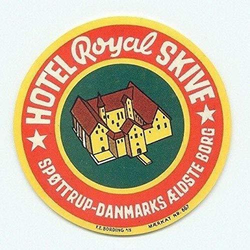 Denmark Sp?ttrup Danmarks ?ldste Borg Hotel Royal Skive Vintage Retro Metal Sign 12x12 inch