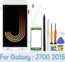 iFixmate LCD Screen Replacement (White) for Samsung Galaxy J7 2015 J700 J700T J700F J700H J700M SM-J700 LCD Touch Screen Digitizer Glass Display Assembly with Repair Tools and Adhesive