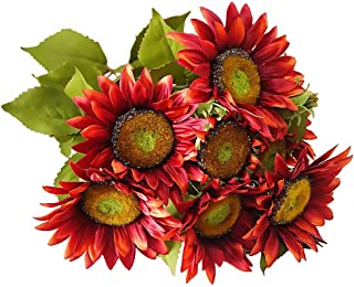 Best artificial red sunflowers Reviews