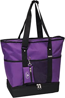 Everest Luggage Deluxe Shopping Tote, Dark Purple/Black, Dark Purple/Black, One Size