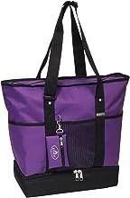 Everest Luggage Deluxe Shopping Tote, Dark Purple/Black, Dark Purple/Black, One Size