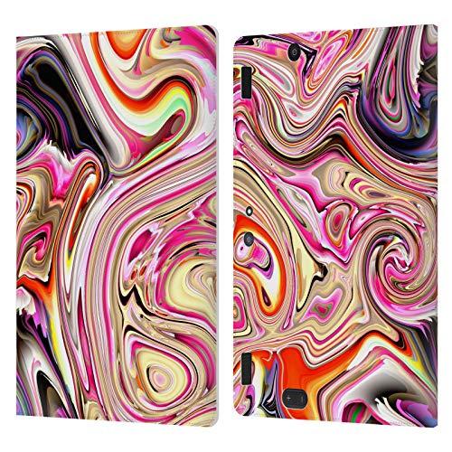 Head Case Designs Licenza Ufficiale Haroulita Moderno Marmoreo Liquido Cover in Pelle a Portafoglio Compatibile con Amazon Kindle Fire HDX 8.9