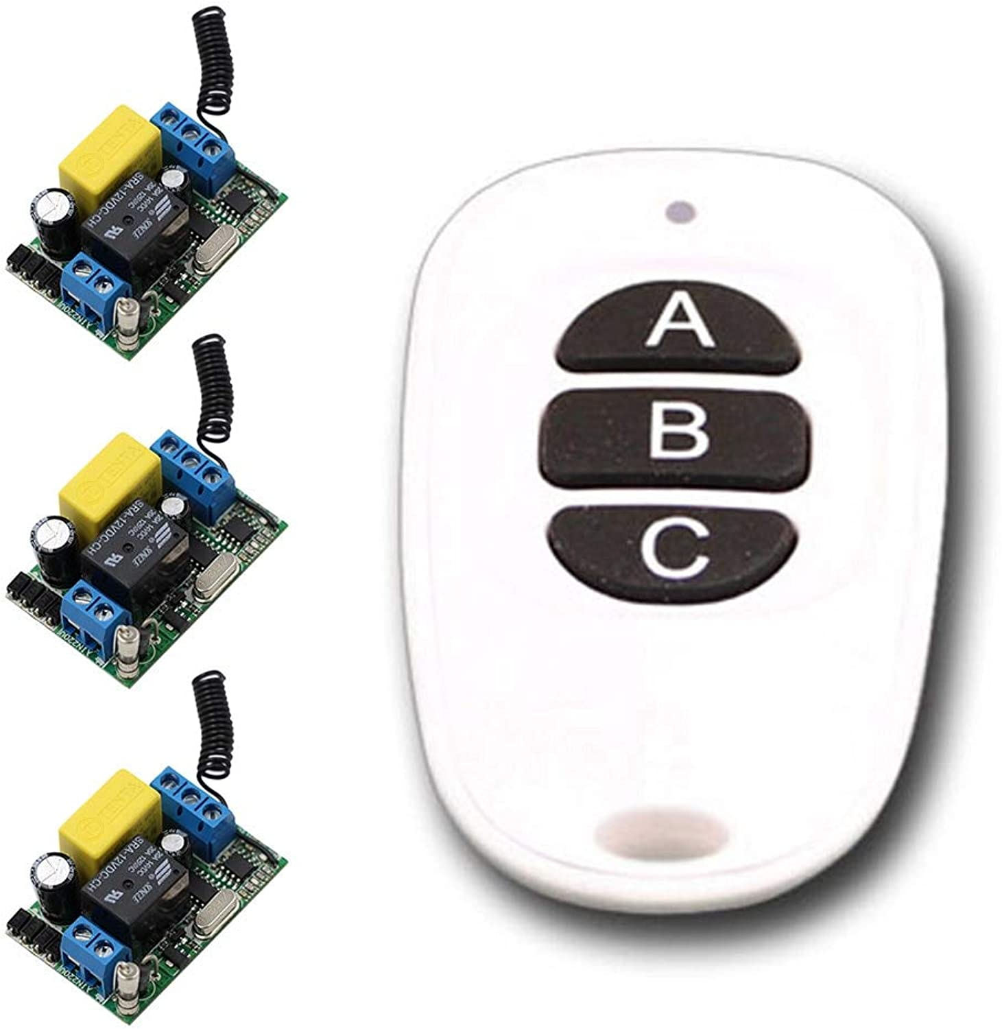 AC 220V Wireless Remote Control Switch RF Remote ON Off 1CH 10A Mini Relay Receiver Witih Transmittter 315 433.92 MHZ  (color  433Mhz)