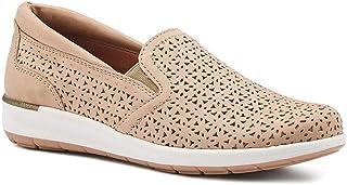 حذاء نسائي Orleans خفيف رمادي داكن مثقوب مقاس 7 M (B) من Walking Cradles