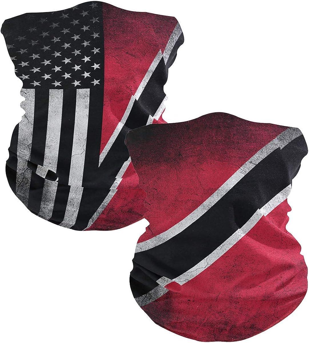 Ningboo 2Pcs Grunge Flag Face Cheap SALE Start Magic Tube Bandanas Scarf Headwear 4 years warranty