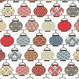 Textiles français Baumwollstoff   Japanische Laternen