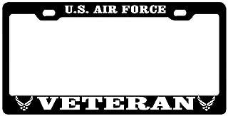 DZGlobal License Plate Frame, Car Tag Frame, U.S. Air Force Veteran License Plate Holder, Fashion License Plate Frame