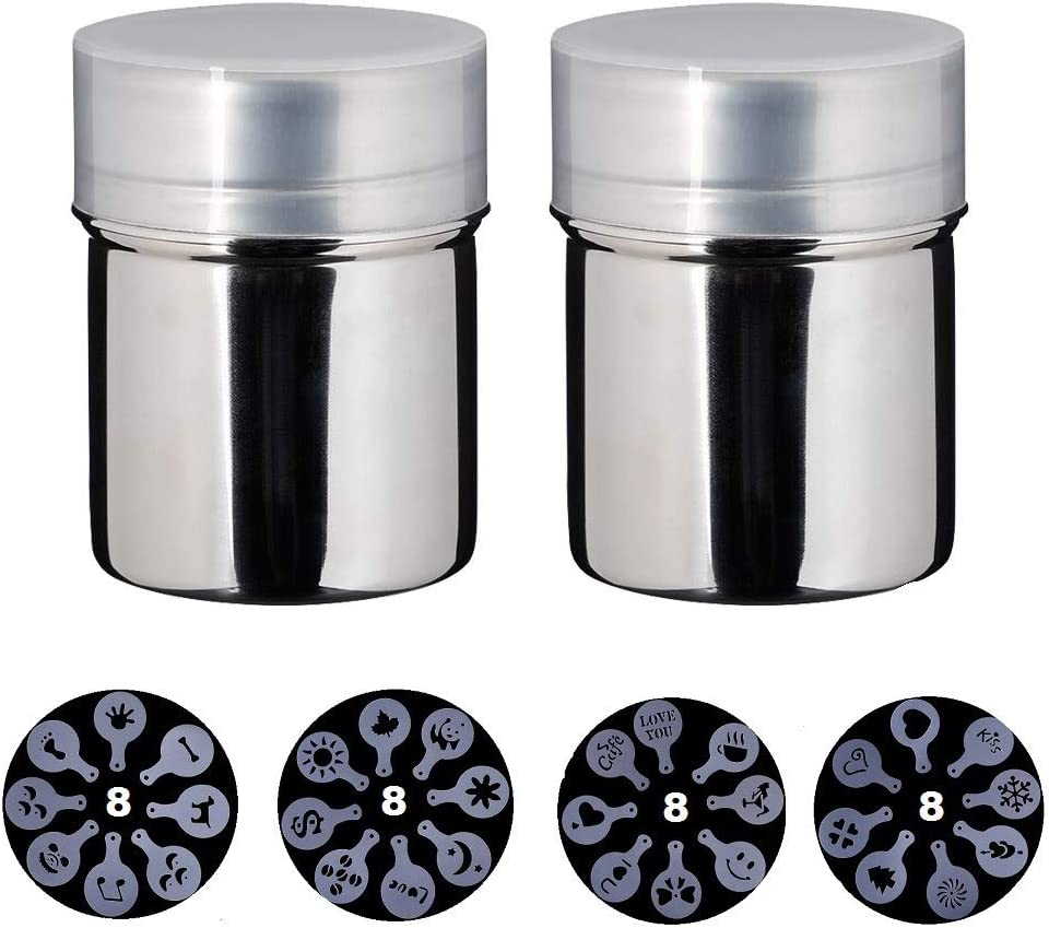 Stainless Steel Chocolate Shaker Duster 16x Cappuccino Barista ...