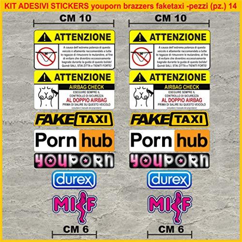 Kit Adesivi Stickers Moto decal fun tube porn youporn faketaxi...