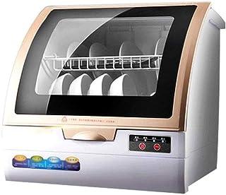 ZWHDS Mini Lavavajillas, hogar Completamente automático Escritorio Lavavajillas pequeño y Elegante Lavavajillas 4 Programas: ecológico, rápido, desinfección y Glass, 5 l Necesidad de Agua,Golden