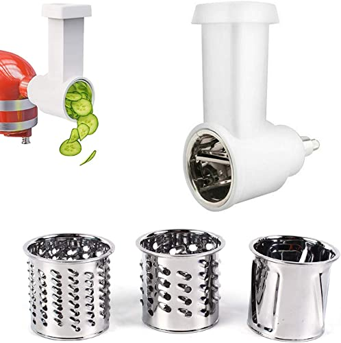 wholesale Set of popular Slicer & Shredder Attachments, Multi-Function Vegetable-Cutting Blade Kit, 3 Blades online sale with Housing, Replacement for Kitchen Aid Stand Mixer Accessories sale