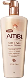 Ambi Soft & Even Creamy Oil Lotion 12 Ounce Pump (354ml) (2 Pack)