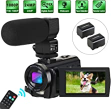 Camcorder Video Camera Digital YouTube Vlogging Camera HD 1080P 30FPS 24MP 16X Digital..