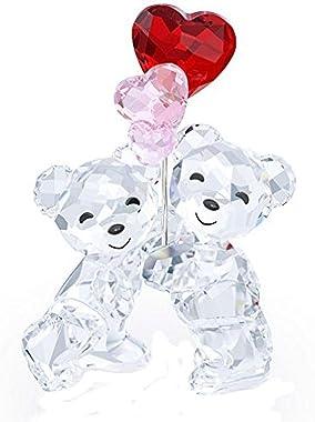 SWAROVSKI 5185778 Bears with Heart Balloons Kris Collectible Figurine