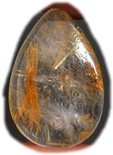 Cabujón de rutilo dorado, piedra preciosa natural del rutillo, forma ovalada 22x14x6mm, 17Ct K-02916
