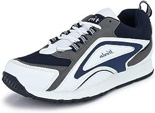 Hirolas Men's Faux Leather Lace-Up Sports Shoes