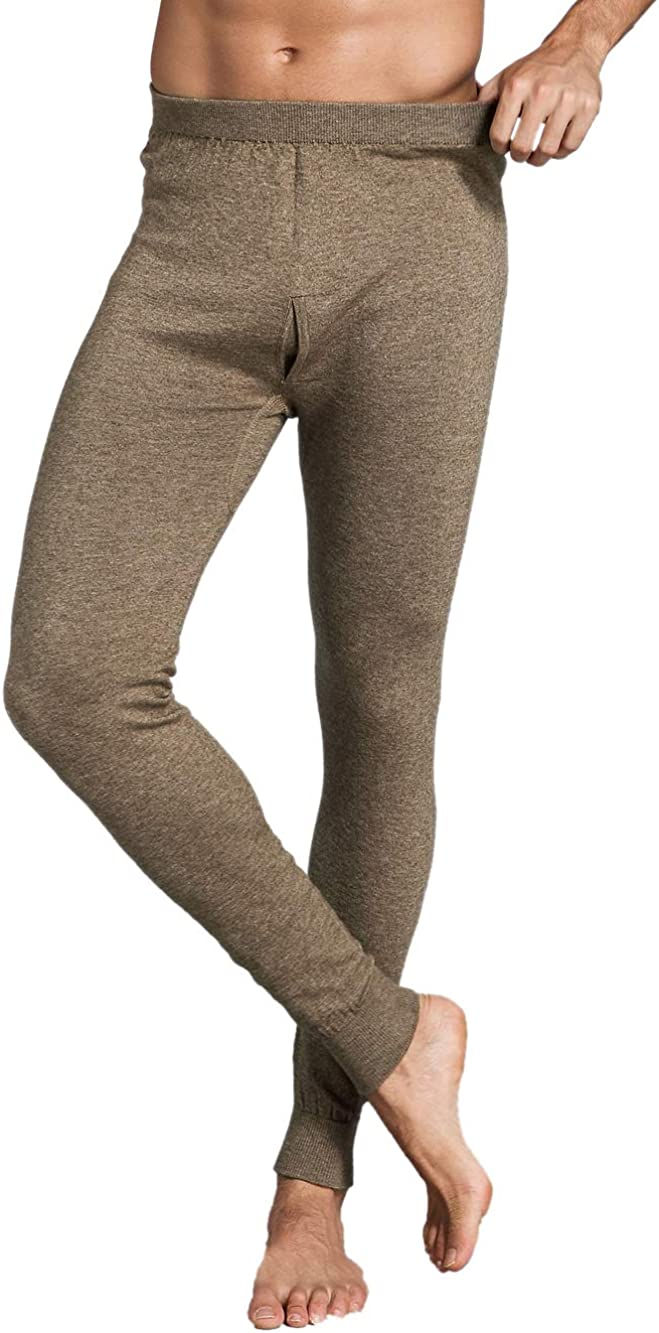 Zhili Men's long thermal underwear leggings soft worm and comfortable bottoms pants for men