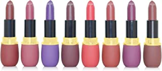 KISS BEAUTY Matte Lipstick Set Multi Colors 8Pcs