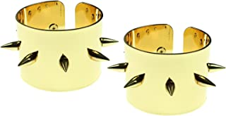 Bioworld Suicide Squad Harley Quinn Gold Spike Cuffs - Set of 2