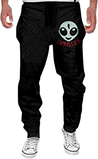 Men's American Electronic Music DJ Skrillex Logo Bottom Sweatpants Black Funny