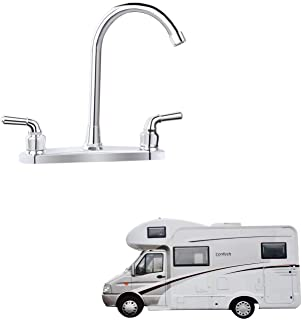 """RV Non-metallic Kitchen Faucet Two Handle-8"""" Main Body-High Arch-360 Swivel Replace For Motorhomes, Travel Trailers,Campers (8""""HIGH ARCH)"""