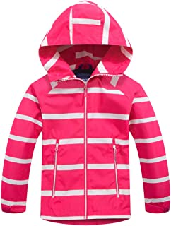 M2C Boys Hooded Full-Zip Windproof Fleece Lined Active Jacket