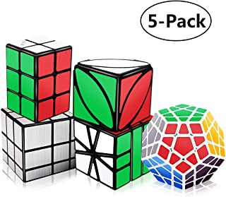 Tresbro Speed Cube Set, 2x2x3 Cube, Smooth Mirror Cube, Ivy Cube, SQ-1 Cube, Qiyi Magic Cube Bundle - Puzzle Toys for Kids Adults