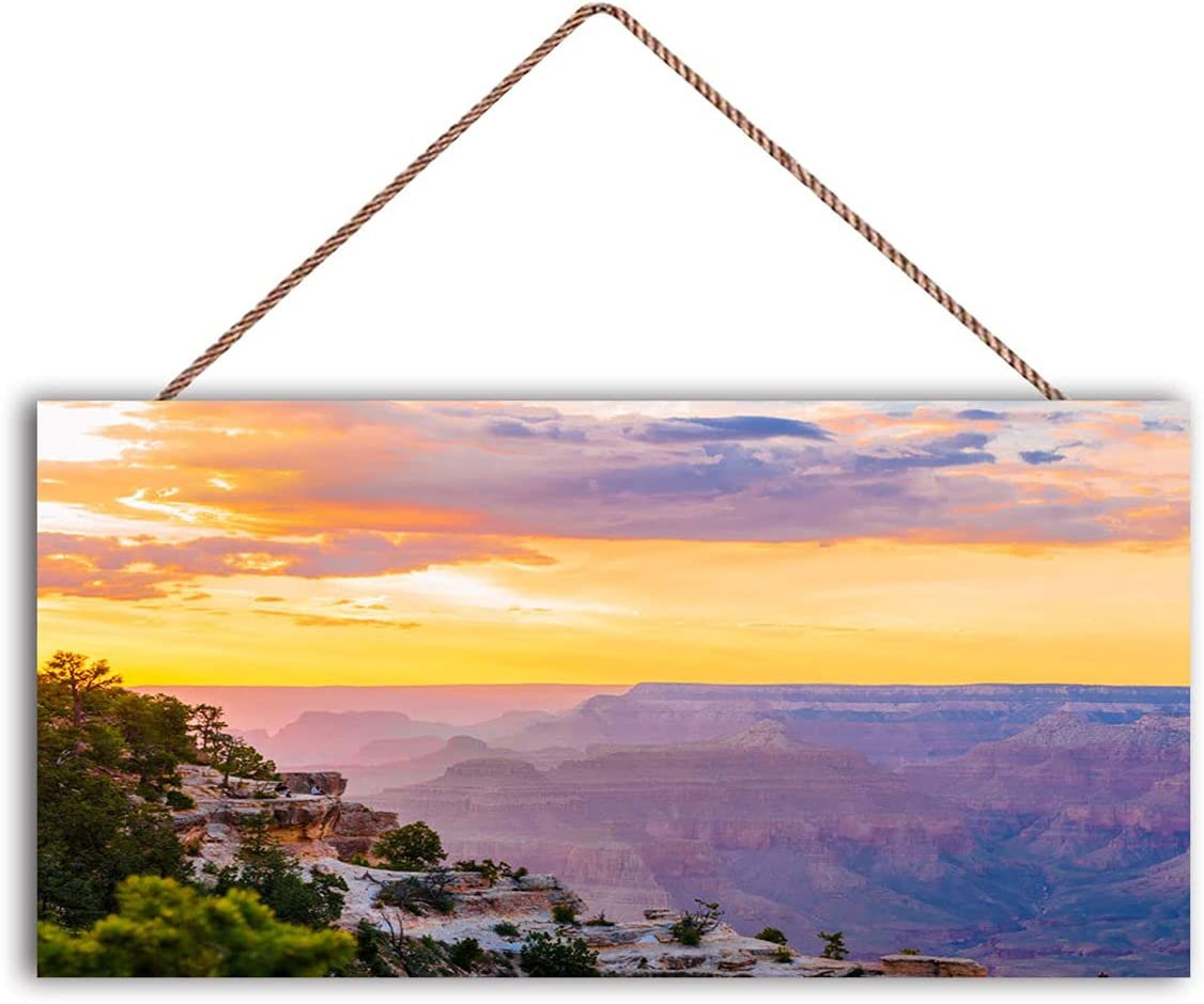 Colorful Sunset Dealing full price reduction USA Blue Sky Wood Panoramic Direct sale of manufacturer Prints Imag Wall Art