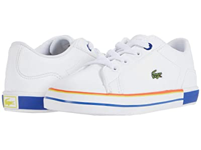 Lacoste Kids Lerond 0320 1 CUI (Toddler/Little Kid) (White/Dark Blue) Kid