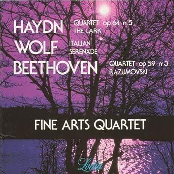 "Haydn: Quartet Op. 64 No. 5 ""Lark"", Hob.III:63,  Wolf: Italian Serenade & Beethoven: Quartet Op. 59 No. 3 ""Razumovski"""