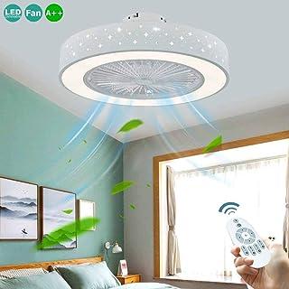 Ventilador De Techo LED Con Luz Regulable Ajustable Con 72W Creativo Moderno De La Habitación Oculta La Velocidad Del Viento Del Ventilador Remoto Dormitorio Lámpara Bajo Ruido Invisible Iluminación