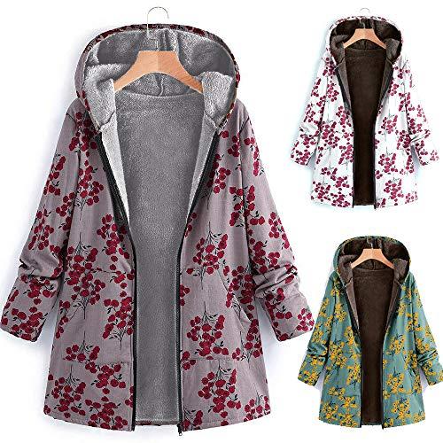 ZOTTOM Femmes Sweats /à Capuche Chaud Fermeture /à glissi/ère Ouverte Sweat Manteau Veste Hauts Outwear