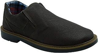 حذاء Zero 3 من الجلد الصناعي المرن بمقدمة مستديرة بدون رباط للرجال