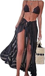 EVALESS Women Beachwear Cover-up Sheer Wrap Sarong Maxi Beach Skirt Swimwear