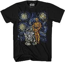 Star Wars T Shirt Men's Starry Night Droid R2-D2 C-3PO Men's Graphic Tee