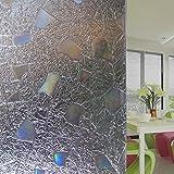 N / A La sombrilla con Cubierta de Vidrio es fácil de aplicar 3D Etiqueta de Ventana de Aislamiento térmico decoración sin Pegamento extraíble película Opaca Moderna abrasivo estático C23 30x100cm