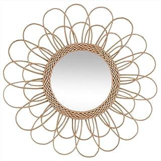 UNIVERS-DECOR Miroir Fleur en rotin diamètre 56 cm Atmosphera
