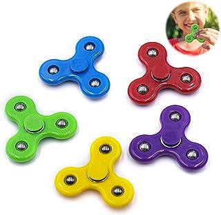 YOLOPLUS+ 5 Pieces Mini Size Fidget Spinner Toys for Children Kids Girls Boys Hand Spinner Best Toys Fit The Small Hand Bi...