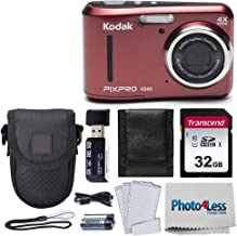 $99 » Kodak PIXPRO Friendly Zoom FZ43 16 MP Digital Camera with 4X Optical Zoom and 2.7 LCD Screen (Red) + Black Point & Shoot C...
