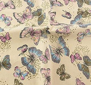 Tela para costura o tapizar mariposas de textura de calidad resistente y diseño ideal NOVEDAD al corte por metros. 1 unidad es 0.50 m. x 1.45 m . 2 unidades 1 m x 1.45 m...podras confeccionar cortinas, colchas, cojines, atrezzo caravanas, descalzadoras, renovar tus sillas.. de CHIPYHOME