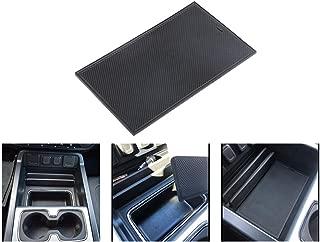 VeCarTech Secret Compartment Cover Center Console Organizer Tray with Non-Slip Mat Compatible for 2014-2018 Chevrolet Chevy Silverado GMC Sierra 1500 2500HD 3500HD Denali Hidden Compartment Accessorie