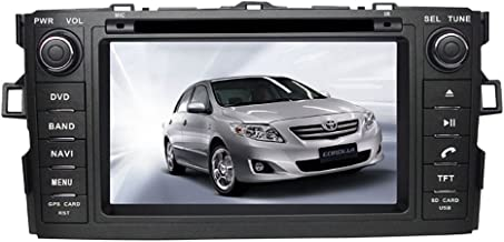 7 Inch Car GPS Navigation System for TOYOTA AURIS TOYOTA COROLLA HATCHBACK COROLLA 2012-2015 w/ Radio DVD Player+RDS+Bluetooth +SWC+AUX In+Free Backup Rear View Camera+Free US Map by Indiny